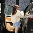 Emma Roberts in Shorts – Leaves Nine Zero One salon in West Hollywood