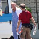 "Actor Jason Statham is seen on the set of ""Parker"" in New Orleans"