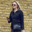 Tamzin Outhwaite out in North London