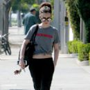 Lily Collins – Out in West Hollywood - 454 x 681
