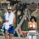 Camila Morrone In a bikini with Leonardo DiCaprio on the beach in Malibu