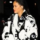 RiRi's Diamond! Rihanna covers baby cousin Majesty in kisses as she takes her to dinner at favourite Italian restaurant