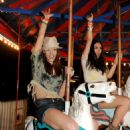 Ashley Greene spotted at the Neon Carnival event yesterday, April 16 at the Coachella Music and Arts Festival!