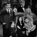 Jackie Coogan, John Astin, Marie Blake, Ted Cassidy, Carolyn Jones, Lisa Loring, and Ken Weatherwax in The Addams Family (1964) - 300 x 400