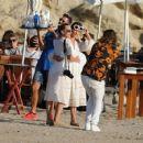 Alicia Vikander – Enjoying a beach party in Ibiza October 15, 2017