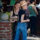 Amber Heard – Having lunch at Al Fresco in Los Feliz