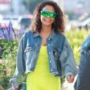 Christina Milian – Shopping at Lole in Los Angeles - 454 x 681