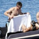 Zac Efron and Michelle Rodriguez on holiday in Sardinia, early July 2014