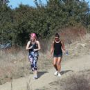 Lea Michelle – Out for a hike with her friend in Los Angeles - 454 x 401