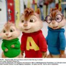 Alvin and the Chipmunks: The Squeakquel. Theodore (Matthew Gray Gubler), Alvin (Justin Long) and Simon (Jesse McCartney) arrive for their first day in school. Photo credit: Twentieth Century Fox