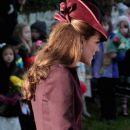 Kate Middleton walks to Sandringham Church