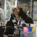 Selena Gomez shares a kiss with Justin Bieber in Los Angeles