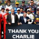 A tribute to Charlie Whiting. Photograph: Diego Azubel/EPA