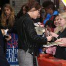 Dakota Johnson outside of Late Show with Stephen Colbert - 454 x 636