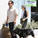 Nicole Richie and her daughter Harlow take their dog Iro to a dog class in West Hollywood, California on August 13, 2014