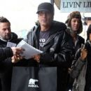 Celebrities brave the cold to take part in the 2012 Sundance Film Festival events being held at Eccles Center Theatre in Park City, Utah on January 23, 2012. Pictured here is Tommy Lee