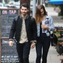 Joe Jonas and Blanda Eggenschwiler walk hand in hand after doing some book shopping at the Daily Planet Book Store in Los Feliz, California on November 20, 2013 - 454 x 639