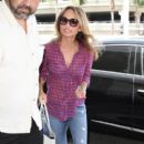 Giada De Laurentiis spotted departing a flight out of Los Angeles Int'l Airport July 29, 2015
