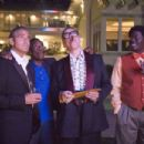 """(L-r) GEORGE CLOONEY as Danny Ocean, DON CHEADLE as Basher Tarr, ELLIOTT GOULD as Reuben Tishkoff and BERNIE MAC as Frank Catton in Warner Bros. Pictures' and Village Roadshow Pictures' """"Ocean's Thirteen,"""" distributed by Warn"""