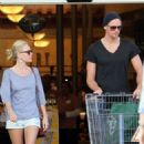Supermarket run in Beverly Hills, CA on Saturday (February 5 2011).