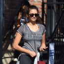 Nina Dobrev – At the gym in West Hollywood