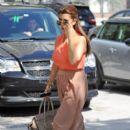 Kourtney Kardashian: took to the streets of Miami