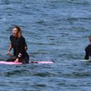 Robin Wright – Surfing at a beach in Malibu - 454 x 302