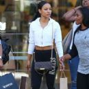 Karrueche Tran – Shopping Candids at The Grove in Los Angeles - 454 x 681