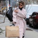 Cobie Smulders in Pinh Coat – Shopping in NYC