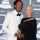 Amber Rose and Wiz Khalifa arrive at the 55th Annual GRAMMY Awards at the Staples Center in Los Angeles, California - February 10, 2013 - 412 x 594