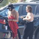 Leighton Meester – Surfing candids with her husband in Malibu