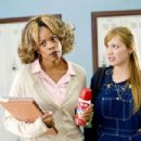Ms. Dontwannabebothered (Kim Wayans, left) with the naive Megan (Shoshana Bush, right) in the comic spoof 'Dance Flick.' Photo Credit: Glen Wilson. Copyright ©2009 by PARAMOUNT PICTURES CORPORATION. All Rights Reserved. - 454 x 302