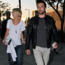 Chelsea Kane & Stephnen Colletti at Staples Center in LA for the Lakers vs. Oklahoma City's Thunder game.