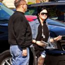 Demi Lovato arriving at A New Journey Eating Disorder Center in Santa Monica, Monday January 31, 2011