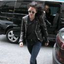 Kristen Stewart Keeps the Leather Coming in Paris