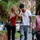 Lauriane Gillieron and Shemar Moore