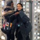 Rihanna on the set of 'Oceans Eight' spotted filming scenes at Times Square building in Midtown Manhattan, New York City December 10, 2016 - 404 x 600