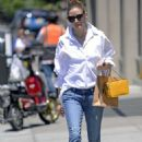 Olivia Palermo in Jeans – Out in New York