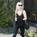 Ashlee Simpson – Leaving a hair salon in West Hollywood