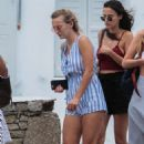 Lucy and Tiffany Watson out in Mykonos