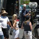 Kate Hudson With Dax Shepard Filming Cutlas, 2007-07-26