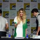 "Actress Sarah Carter speaks onstage at the ""Falling Skies"" panel during TNT at Comic-Con International: San Diego 2015 on July 10, 2015 in San Diego, California"