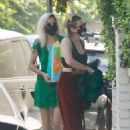 Camila Morrone with Emma Roberts and Kristen Stewart – Seen leaving Emma's baby shower in LA