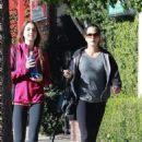 Teri Hatcher – Leaves the gym with her daughter in Studio City - 454 x 681