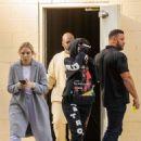 Kylie Jenner – Wearing a Juice Wrld Sweatsuit – Shopping in Calabasas