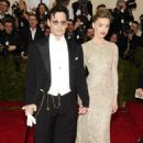 Amber Heard and Johnny Depp 2014 Met Gala In Ny