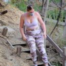 Iskra Lawrence – In camo leggings out for hike in Los Angeles - 454 x 541