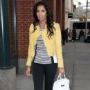 Padma Lakshmi Arrives At Her Apartment In New York