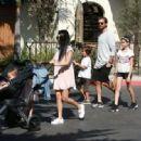 Scott Disick, and family head to the Santa Barbara Zoo in Santa Barbara, California on June 19, 2016