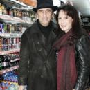 Legendary Spooky Shock Rocker Alice Cooper Shop At Newsagents In Soho With His Wife